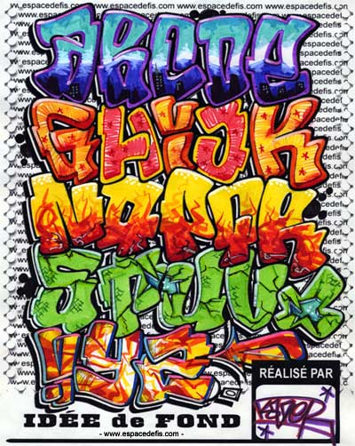 Wildstyle Bubble Graffiti Alphabet